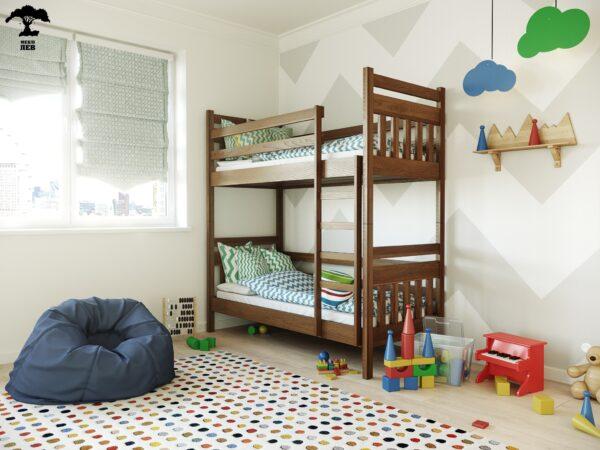 """Дитяче двоповерхове дерев'яне Ліжко """"Умка"""""""