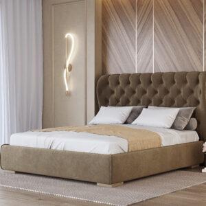 """М'яке ліжко """"Амстердам"""" коричневе"""